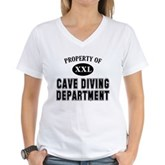 Cave Diving Department Women's V-Neck T-Shirt