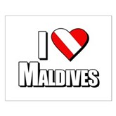 Scuba: I Love Maldives Small Poster