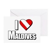 Scuba: I Love Maldives Greeting Card