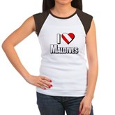 Scuba: I Love Maldives Women's Cap Sleeve T-Shirt