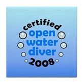 Open Water Diver 2008 Tile Coaster