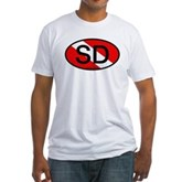 SD Oval Dive Flag Fitted T-Shirt