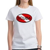 Scuba Oval Dive Flag Women's T-Shirt