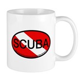 Scuba Oval Dive Flag Mug