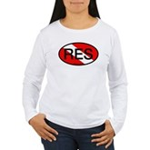 RES Oval Scuba Flag Women's Long Sleeve T-Shirt