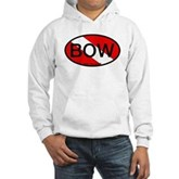 BOW Oval Dive Flag Hooded Sweatshirt