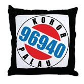 Koror Palau 96940 Throw Pillow