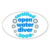 Open Water Diver 2009 Oval Sticker