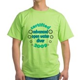 Advanced OWD 2009 Green T-Shirt