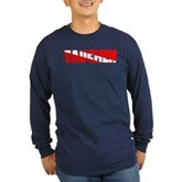 Tauchen German Scuba Flag Long Sleeve Dark T-Shirt