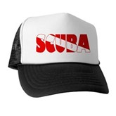 Scuba Text Flag Trucker Hat