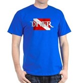 Pirate-style Diver Flag Dark T-Shirt