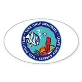 Take Only Memories (fish) Oval Sticker