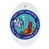 Take Only Memories (fish) Oval Ornament