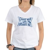 Dives Well With Others Women's V-Neck T-Shirt