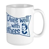 Dives Well With Others Large Mug