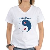 Zen Diver Women's V-Neck T-Shirt