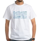 SCUBA Tag Cloud White T-Shirt