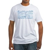 SCUBA Tag Cloud Fitted T-Shirt