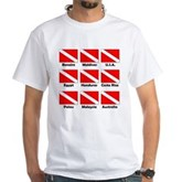 Dive Flags of the World White T-Shirt