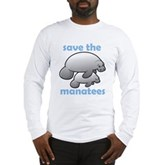 Save the Manatees Long Sleeve T-Shirt